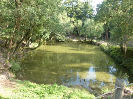 松江城 馬洗池