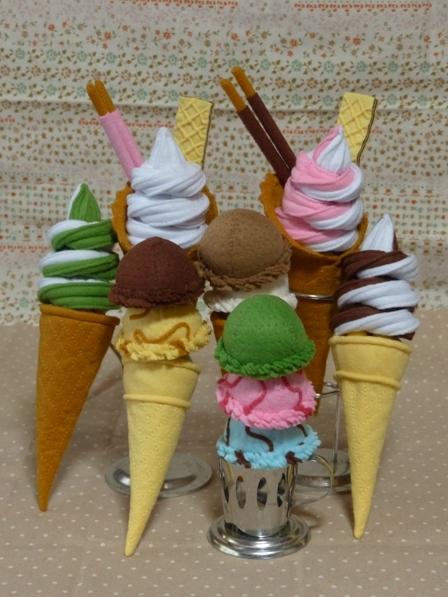 フェルト アイスクリーム 全体