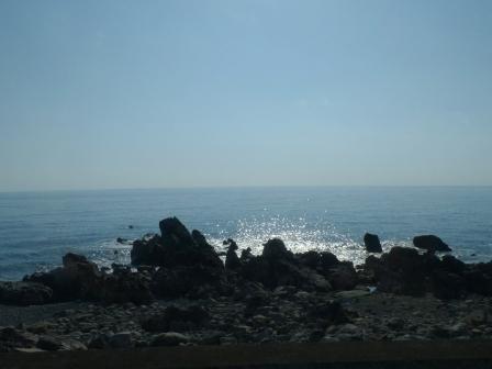 バス車窓風景 3 太平洋