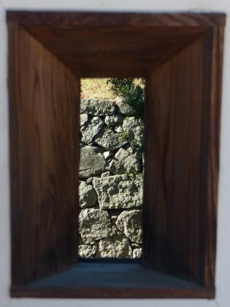 二之丸史跡庭園 狭間から見た石垣