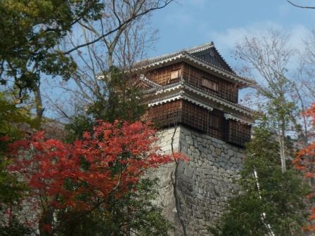 巽櫓 (?) と紅葉