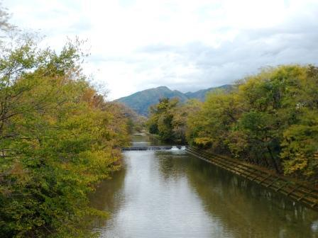 石手川・湯渡橋からの眺め 2