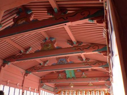 伊佐爾波神社 廻廊の天井
