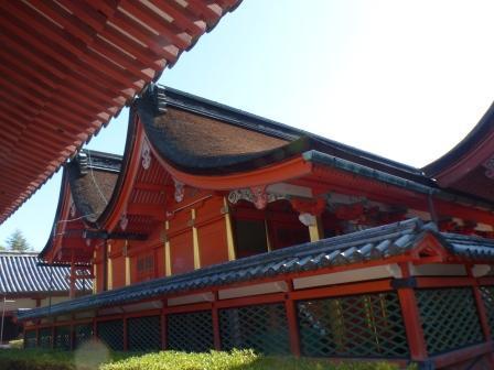 伊佐爾波神社 透塀と本殿 1