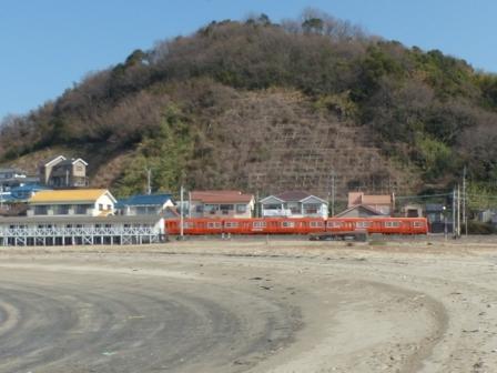 伊予鉄道・郊外電車 7 砂浜と