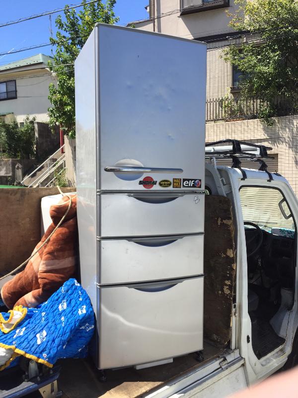 昨日の回収した冷蔵庫
