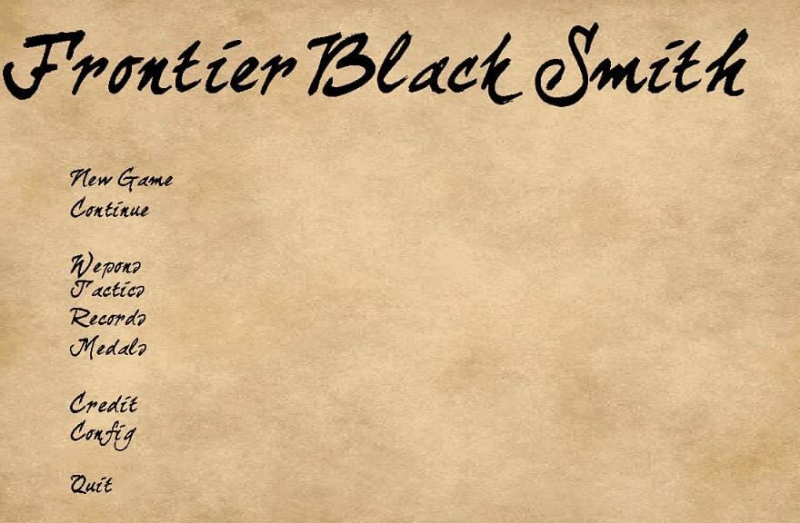 Frontier Black Smith FBS フロンティアブラックスミス スクショ タイトル画面