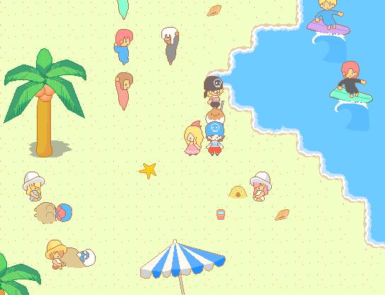 きらきら星の道しるべ スクショ シーシティのビーチ