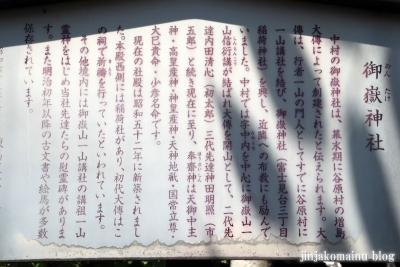 中村御嶽神社(練馬区中村)2