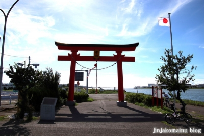 旧穴守稲荷神社大鳥居(大田区羽田空港)1