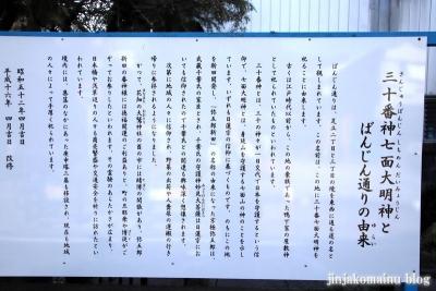 三十番上七面大明神社(足立区足立)10
