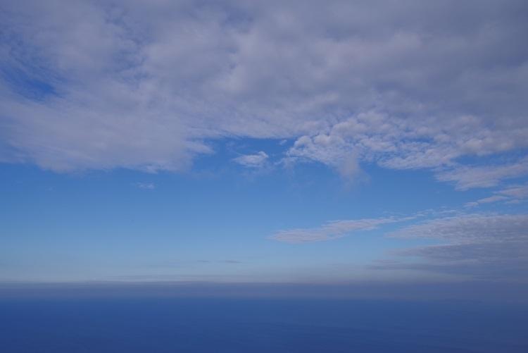 空と海の景色