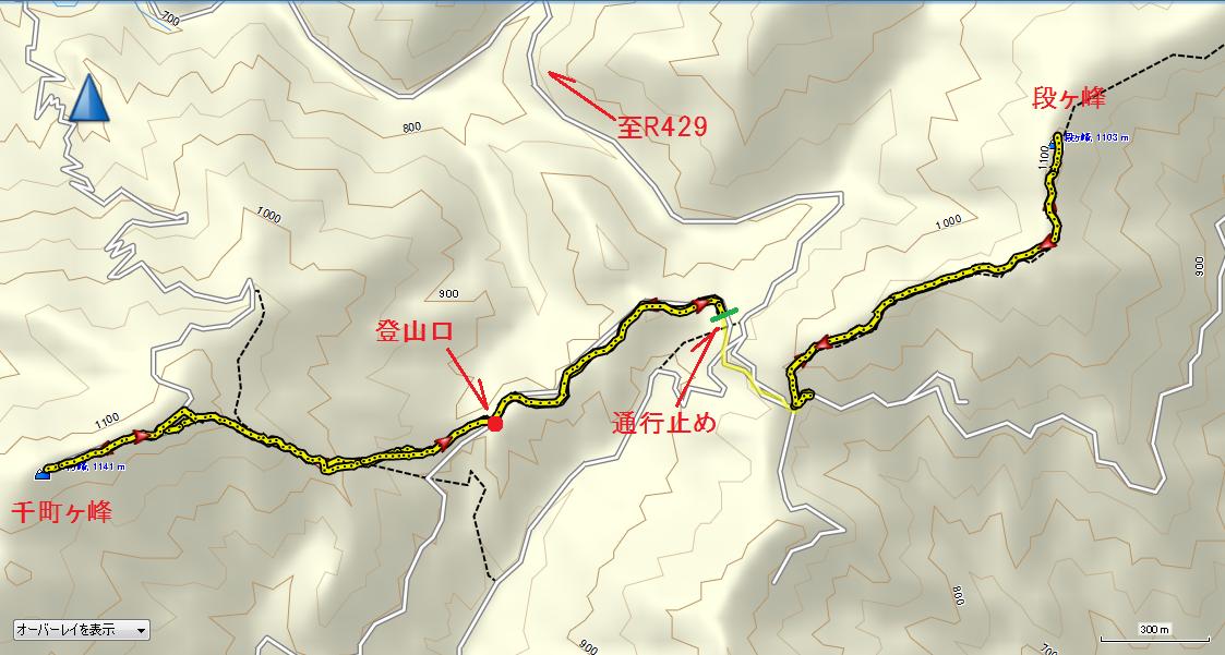 2018千町ヶ峰段ヶ峰/地図