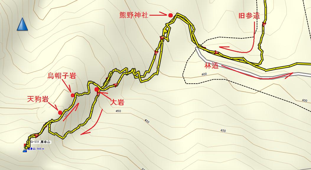 2019鹿倉山/詳細地図