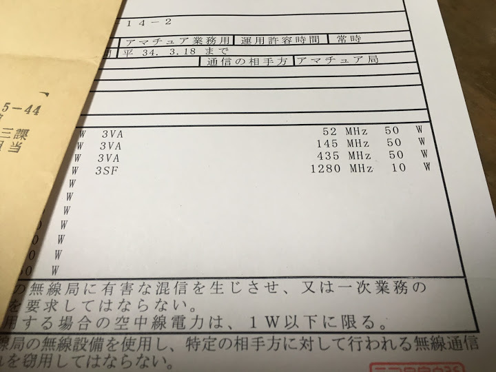 F2キーヤー/免許状