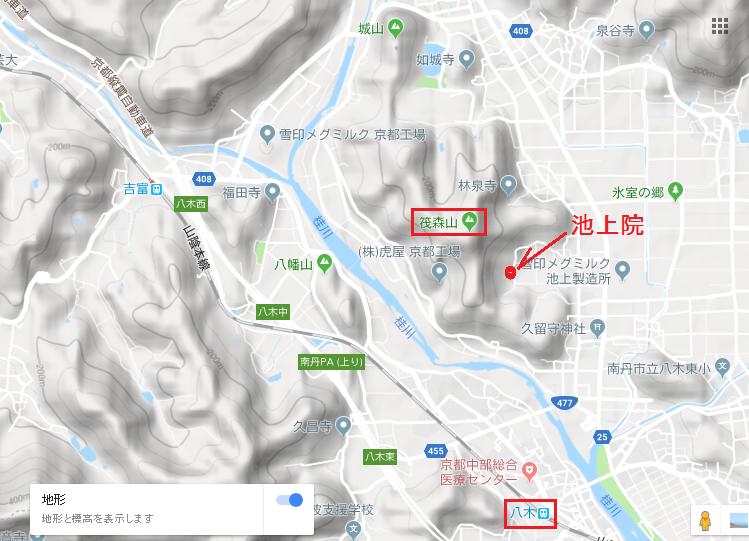 2019筏森山/位置図
