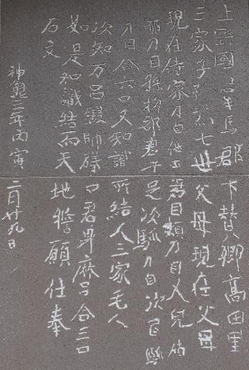 13-2-1 金井沢碑文