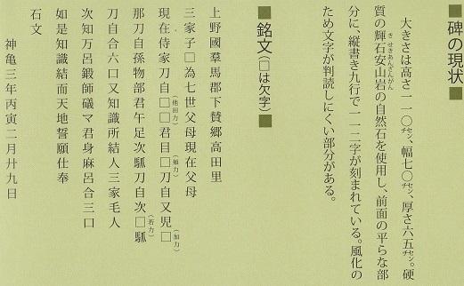 金井沢碑 その5-1