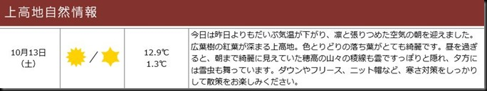konashidaira201810-上高地自然情報1013