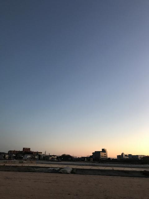 ⭐️ 今朝の空