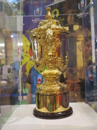 ラグビーWCポップアップミュージアム エリスカップ