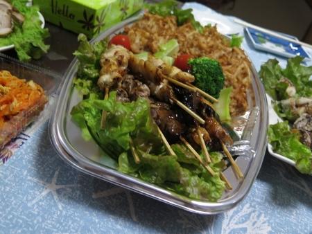 焼き鳥と大根とひき肉の天ぷら