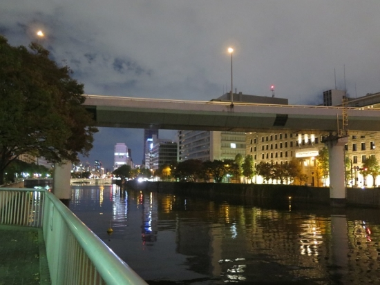 大阪 淀屋橋付近夜景