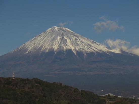 富士川SA下りから富士山