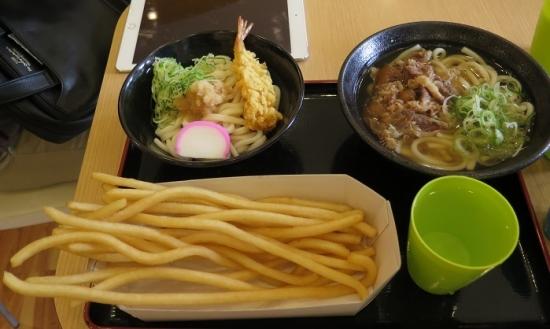 名古屋アンパンマンミュージアム&パーク うどんのように長いぽてと、海老天うどん、肉うどん