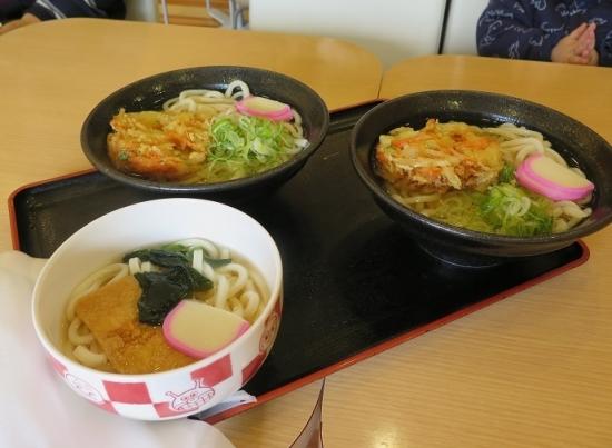 名古屋アンパンマンミュージアム&パーク お子様うどん、野菜かき揚げうどん
