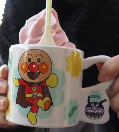 名古屋アンパンマンミュージアム&パーク スーベニア付きソフトクリーム