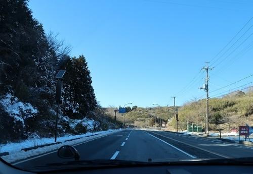 雪が残ってる箱根