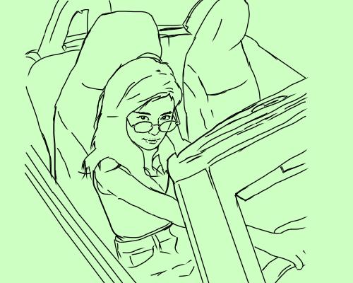 小島瑠璃子 運転席  あお