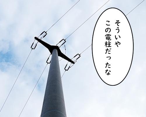 この電柱だった  空
