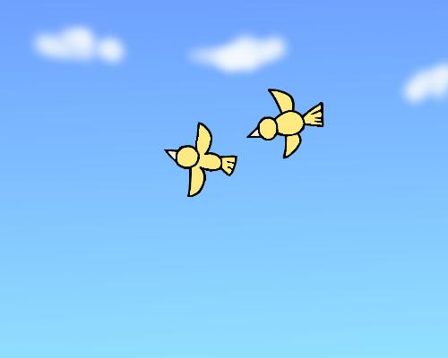 朝 鳥  空