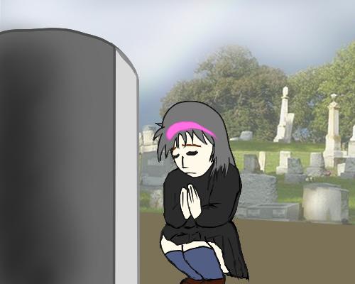 お墓参り 墓石 裏 空