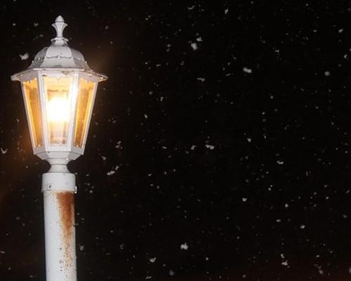 500 クリスマス 雪 街灯