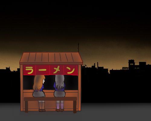 影 ラーメン屋台 ゆーこ 宮沢 夜のまち