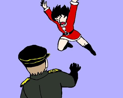 なにい 背中 ルチア ポラン 飛ぶ  あお