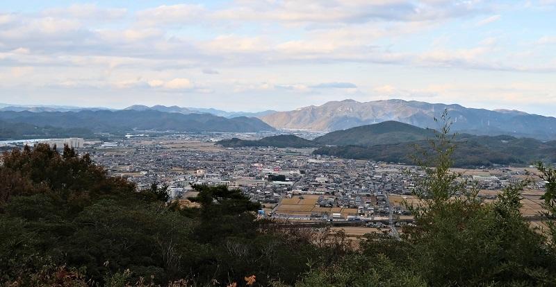 大賀島寺のある大雄山山頂からの眺望