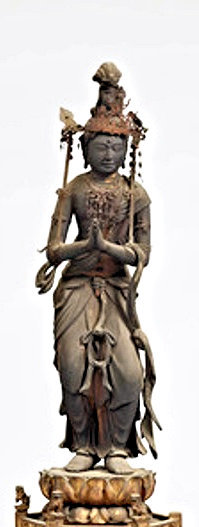 行快銘が発見された聞名寺・阿弥陀三尊像