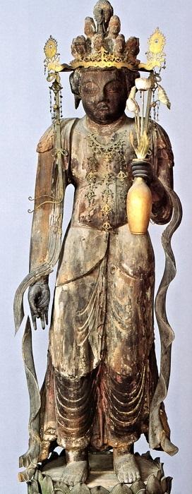 満福寺・十一面観音像(奈良~平安)~「中世の村をあるく~紀美野町の歴史と文化」展図録掲載写真