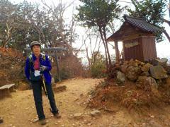 035晃石山山頂(419m)