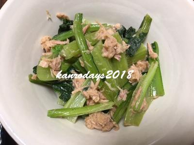 20181101_雪菜とツナのサラダ