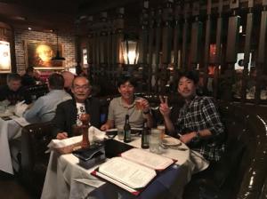 NHK「プロフェッショナル」クルーと夕食。
