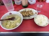 珉珉山科店 焼き餃子&白菜スープ&ライス