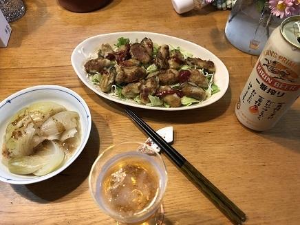11052018 Dinner 牡蛎&玉ねぎ S