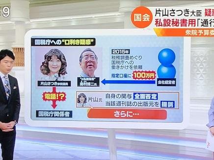 11022018 TV 片山大臣 秘書疑惑 S