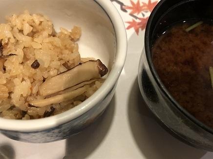 11152018 神龍湖畔錦彩館夕食松茸ご飯 S13