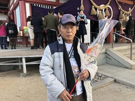 1022019 亀山神社初詣終えKaz鏑矢 S11